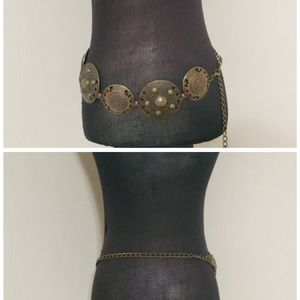 Accessories - 💖Brass Antique Round Heavy Metal Ornate Belt